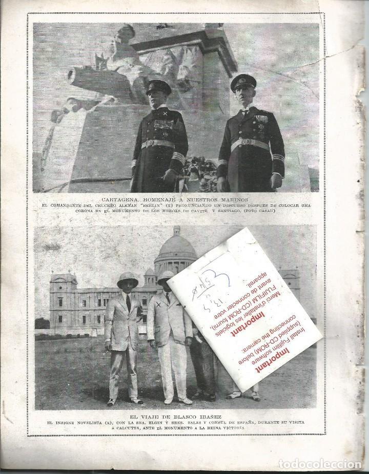 Coleccionismo de Revistas y Periódicos: BYN 16 MAR 1924.Nº 1713. REY DE HOLANDA EN MADRID CARTAGENA MARINA BLASCO IBAÑEZ EN CALCUTA - Foto 2 - 68944605