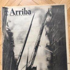 Coleccionismo de Revistas y Periódicos: PERIODICO DIARIO ARRIBA 29 ENERO 1957 FUEGO EN NUEVA YORK FALANGE HOLANDA BARCELONA RIAZOR. Lote 68955557