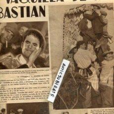 Coleccionismo de Revistas y Periódicos: CHARLOT 1935 LA FIESTA DE SAN SEBASTIAN EN LOS MOLINOS DE GUADARRAMA LAS BRUJAS DEL PAIS VASCO. Lote 112836332