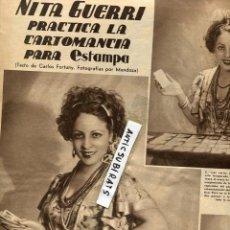 Coleccionismo de Revistas y Periódicos: REVISTA 1935 NITA GUERRI QUIROMANCIA. Lote 69013461