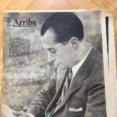 Coleccionismo de Revistas y Periódicos: PERIODICO DIARIO ARRIBA 29 OCTUBRE 1960 ANTONIO PRIMO DE RIVERA FUNDACION FALANGE ESPAÑOLA BALONMANO. Lote 69030037