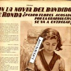 Coleccionismo de Revistas y Periódicos: REVISTA 1935 EL BANDIDO DE RONDA PEDRO FLORES RELOJ CIMA CYMA NIÑO DE GAMONAL TOLEDO . Lote 69271009