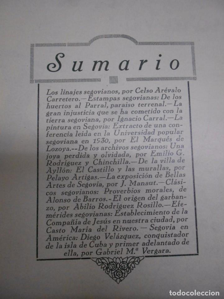 Coleccionismo de Revistas y Periódicos: SEGOVIA , CULTURA SEGOVIANA: REVISTA MENSUAL Nº 4 MARZO 1932.44PP. 17X24 CMS FOTOS E ILUSTRACIONES - Foto 2 - 69274621