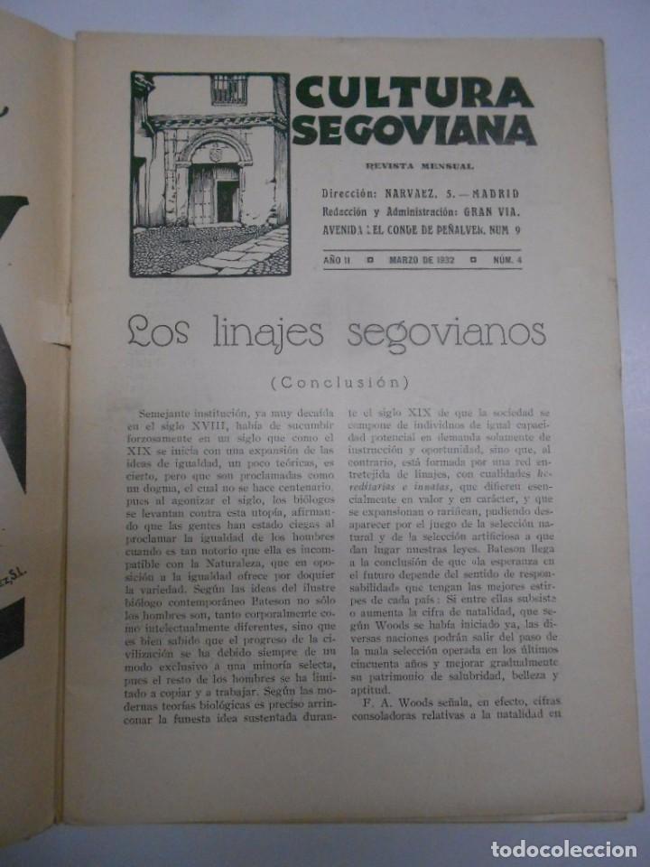 Coleccionismo de Revistas y Periódicos: SEGOVIA , CULTURA SEGOVIANA: REVISTA MENSUAL Nº 4 MARZO 1932.44PP. 17X24 CMS FOTOS E ILUSTRACIONES - Foto 3 - 69274621