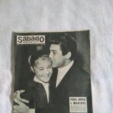 Coleccionismo de Revistas y Periódicos: SÁBADO GRAFICO.MARISOL Y PAUL ANKA. N. 284.10 DE MARZO DE 1962. Lote 69300195