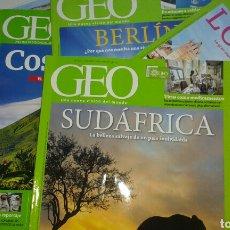 Coleccionismo de Revistas y Periódicos: LOTE 5 REVISTAS GEO AÑOS 2015-16. Lote 69542890
