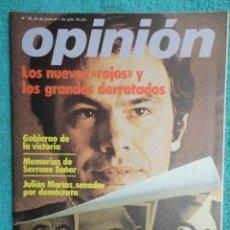 Coleccionismo de Revistas y Periódicos: REVISTA OPINION Nº 38,JUNIO 77 ,VOTAR LIBREMENTE-CORTES DEMOCRATICAS-SUAREZ GOBIERNO DE VICTORIA. Lote 69555533