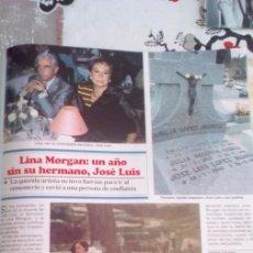 Coleccionismo de Revistas y Periódicos: RECORTE LINA MORGAN. Lote 69848845