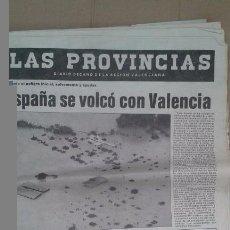 Coleccionismo de Revistas y Periódicos: PERIODICO LAS PROVINCIAS. PANTANADA JUCAR 1982. Lote 69858113