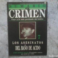 Coleccionismo de Revistas y Periódicos: SUMARIO DEL CRIMEN 7. Lote 69923733