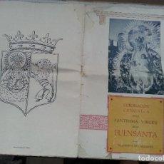 Coleccionismo de Revistas y Periódicos: 1956 CORONACION CANONICA VIRGEN DE LA FUENSANTA VILLANUEVA DEL ARZOBISPO - FOTO FRANCISCO FRANCO - . Lote 70025517
