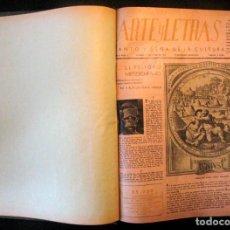 Coleccionismo de Revistas y Periódicos: ANTIGUO TOMO REVISTAS ARTE Y LETRAS. SANTO Y SEÑA DE LA CULTURA. 1943 1944 PINTURA ARQUITECTURA CINE. Lote 70068213