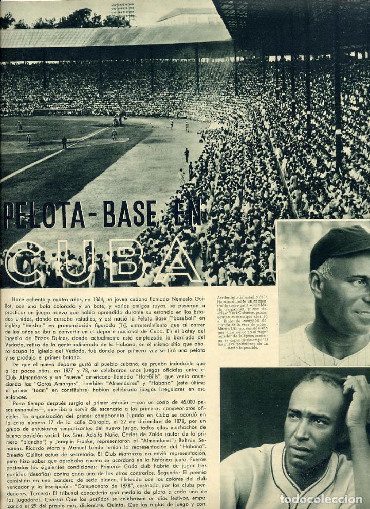 CUBA 1948 PELOTA BASE HOJA REVISTA (Coleccionismo - Revistas y Periódicos Antiguos (hasta 1.939))