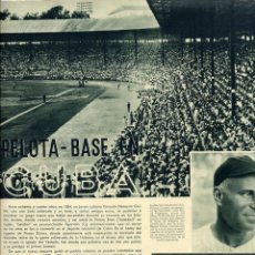 Coleccionismo de Revistas y Periódicos: CUBA 1948 PELOTA BASE HOJA REVISTA. Lote 70091981