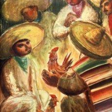 Coleccionismo de Revistas y Periódicos: MEXICO 1948 PELEAS DE GALLOS ILUSTRACION HOJA REVISTA. Lote 70092897