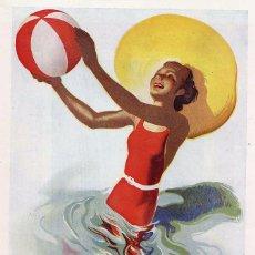 Coleccionismo de Revistas y Periódicos: GUIPUZCOA 1948 PLAYAS ILUSTRACION HOJA REVISTA. Lote 70092973