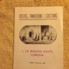 """Coleccionismo de Revistas y Periódicos: FOLLETO """"FESTES, TRADICIONS I COSTUMS """". Lote 70171878"""