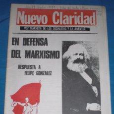 Coleccionismo de Revistas y Periódicos: PERIODICO NUEVA CLARIDAD VOZ MARXISTA DE LOS SOCIALISTAS Y LA JUVENTUD. Lote 70174105