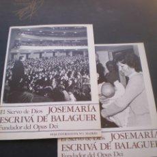 Coleccionismo de Revistas y Periódicos: REVISTA, HOJA INFORMATIVA, JOSE MARIA ESCRIVA DE BALAGUER, FUNDADOR DE OPUS DEI, 2 UNIDADES. Lote 70184085
