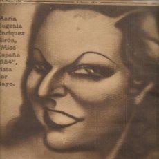 Coleccionismo de Revistas y Periódicos: REVISTA CRÓNICA. Nº 238. MARÍA EUGENIA ENRÍQUEZ GIRÓN, ¨MISS ESPAÑA 1934¨ . ABRIL 1934. (P/B10). Lote 70198621