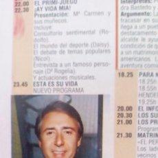 Coleccionismo de Revistas y Periódicos: RECORTE RICARDO FERNANDEZ DEU. Lote 70342285