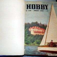 Coleccionismo de Revistas y Periódicos: LOTE AÑO COMPLETO REVISTA HOBBY. BUENOS AIRES, 1954. Lote 70525853