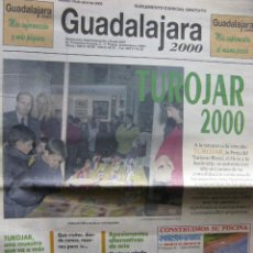 Coleccionismo de Revistas y Periódicos: GUADALAJARA 2000. MARTES 18 DE ABRIL DE 2000. TUROJAR 2000.. Lote 71058101