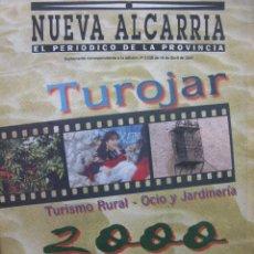 Coleccionismo de Revistas y Periódicos: NUEVA ALCARRIA. EL PERIÓDICO DE LA PROVINCIA. GUADALAJARA. 19 DE ABRIL DE 2000. TUROJAR.. Lote 71058849