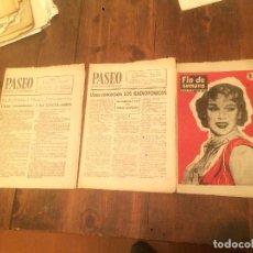 Coleccionismo de Revistas y Periódicos: ANTIGUA 3 REVISTA PASEO SEMANARIO DE INFORMACION Y FIN DE SEMANA AÑO 1957 . Lote 71415431