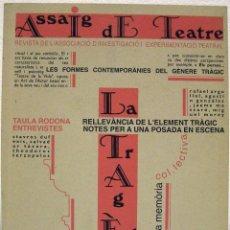 Coleccionismo de Revistas y Periódicos: ASSAIG DE TEATRE. NÚMERO 1. DESEMBRE 1994.. Lote 71455927