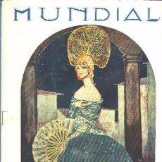 Coleccionismo de Revistas y Periódicos: MUNDIAL N.º 05 REVISTA GRÁFICA. MADRID, 10 DE AGOSTO DE 1922. Lote 71500275