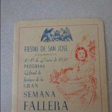 Coleccionismo de Revistas y Periódicos: REVISTA FALLERA - PROGRAMA OFICIAL GRAN SEMANA - 1956 - TEMA FALLAS DE VALENCIA - ORIGINAL - RARA. Lote 71552967