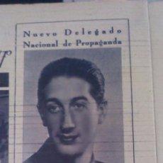 Coleccionismo de Revistas y Periódicos - RECORTE 1943 DAVID JATO MIRANDA DELEGADO NACIONAL DE PROPAGANDA - 71579155