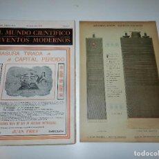 Coleccionismo de Revistas y Periódicos: (ALF) REVISTA EL MUNDO CIENTIFICO AÑO XIV NUM 6 - 1912 - LAMINA ACUMULADOR EDISON/EDISON. Lote 72049635