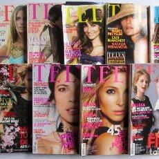 Coleccionismo de Revistas y Periódicos: TELVA LOTE DE 11 REVISTAS 2008 (SOLO FALTA MAYO) MUY BUEN ESTADO. Lote 72129747
