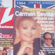 Coleccionismo de Revistas y Periódicos: RECORTE CARMEN SEVILLA AUGUSTO ALGUERO SARA MONTIEL GIANCARLO VIOLA . Lote 72239279