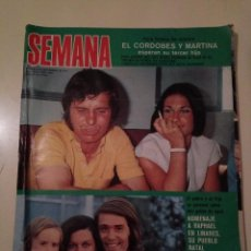 Coleccionismo de Revistas y Periódicos: SEMANA Nº 1855 1975 RAPHAEL EL CORDOBES EMMA OZORES MIGUEL BOSE AMPARO MUÑOZ ROCIO JURADO GOYANES. Lote 72240595