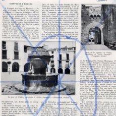 Coleccionismo de Revistas y Periódicos: TARRAGONA 1935 MONTSANT Y PRADES HOJA REVISTA. Lote 72793227