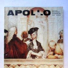 Coleccionismo de Revistas y Periódicos: APOLLO. THE INTERNATIONAL MAGAZINE OF THE ARTS. SEPTEMBER 1986. Lote 72883199