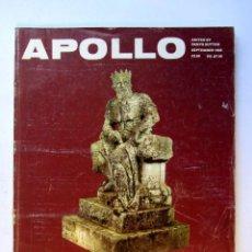 Coleccionismo de Revistas y Periódicos: APOLLO. THE INTERNATIONAL MAGAZINE OF THE ARTS . SEPTEMBER 1985. Lote 72884923