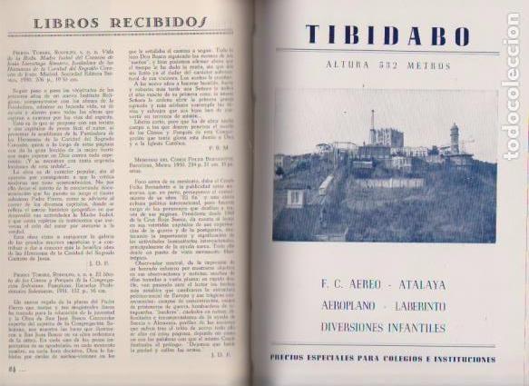 Coleccionismo de Revistas y Periódicos: EL TIBIDABO - 1950 - 1951 - 1952 - 1953 - AÑOS COMPLETOS / ILUSTRADOS - Foto 4 - 72907971