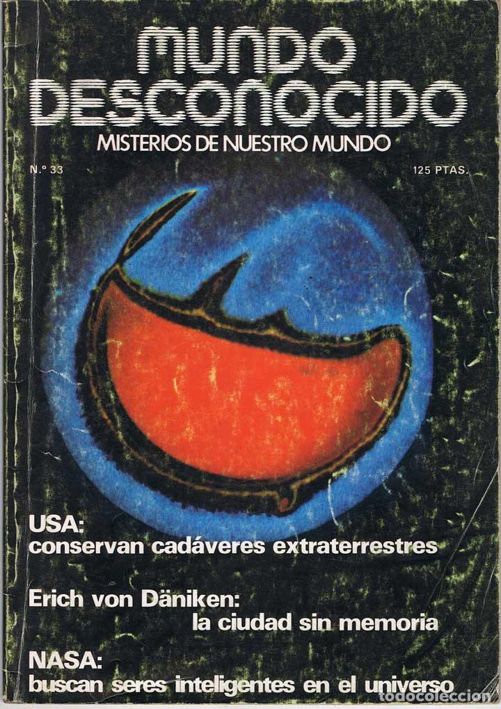 REVISTA MUNDO DESCONOCIDO Nº 33. MARZO 1979 (Coleccionismo - Revistas y Periódicos Modernos (a partir de 1.940) - Otros)