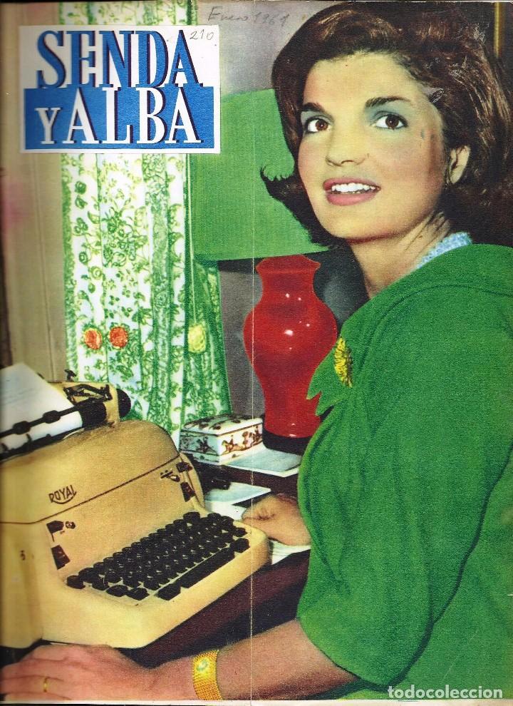 ANTIGUA REVISTA *SENDA Y ALBA* -ENERO 1961- (Coleccionismo - Revistas y Periódicos Modernos (a partir de 1.940) - Otros)