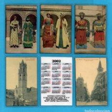 Coleccionismo de Revistas y Periódicos: SERIE 16 CALENDARIOS PLASTIFICADOS DE REUS PUBLICIDAD DEL AÑO 2002. Lote 73388991