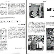Coleccionismo de Revistas y Periódicos: AÑO1970 MAGIA ILUSIONISMO SATTER KIM MAGO DE LAS SERPIENTES TRUCOS PRESTIDIGITACION YU-LI-PEN SCARNE. Lote 73501999