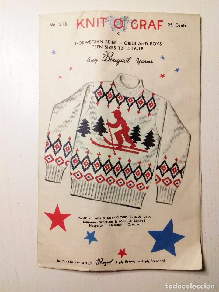 patrón de tejido knit o graf 1954 jersey alpino - Comprar Otras ...