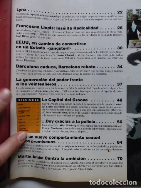 Coleccionismo de Revistas y Periódicos: REVISTA AJOBLANCO NUMERO 33 MAYO 1991 - VUELVE LA CONTESTACION - Foto 2 - 73561751