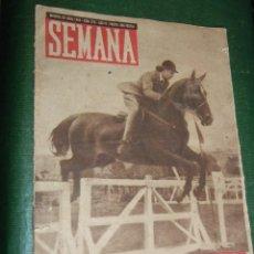 Coleccionismo de Revistas y Periódicos: REVISTA SEMANA N.279 1945 - I COPA GENERALISIMO ATH BILBAO, AGATHA CHRISTIE, FLEMMING,TUNEL MADRID. Lote 73647831