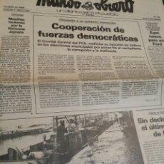 Coleccionismo de Revistas y Periódicos: MUNDO OBRERO MARZO 1979 N°96 PCE. Lote 73988058