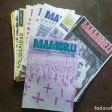 Coleccionismo de Revistas y Periódicos: MAMBRU REVISTA 27 NUMEROS ANTIMILITARISTA MOVIMIENTO DE OBJECION DE CONCIENCIA 27 NUMEROS. Lote 74030075